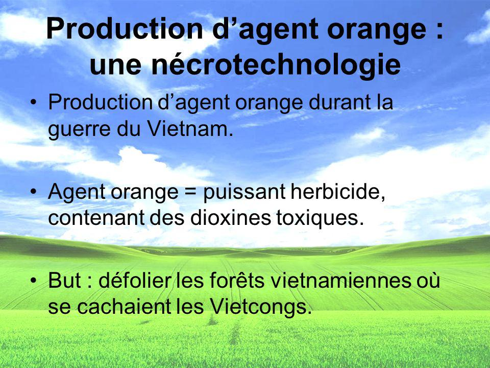 Production d'agent orange : une nécrotechnologie