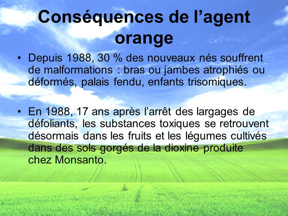 Conséquences de l'agent orange