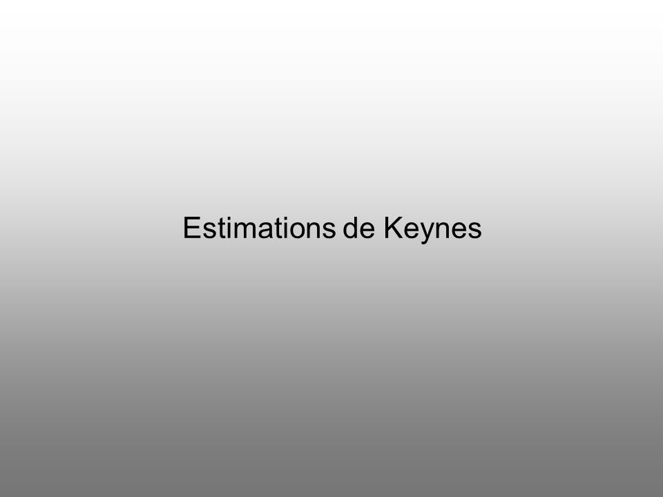 Estimations de Keynes