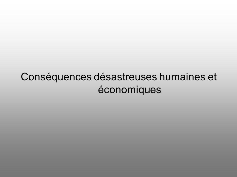 Conséquences désastreuses humaines et économiques