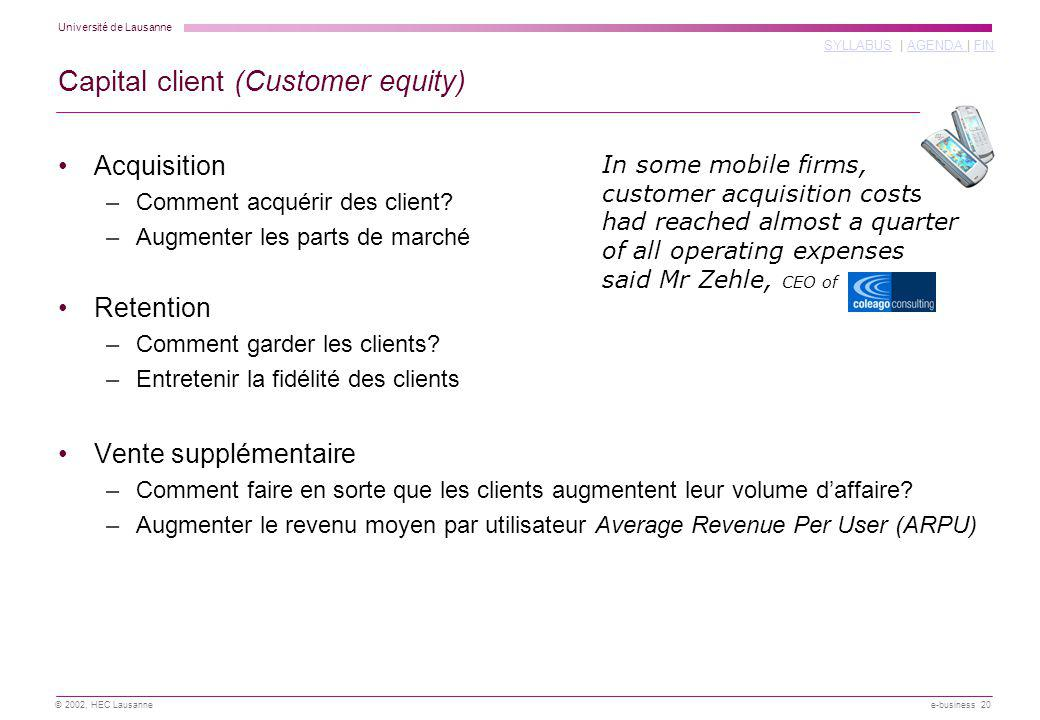 Capital client (Customer equity)
