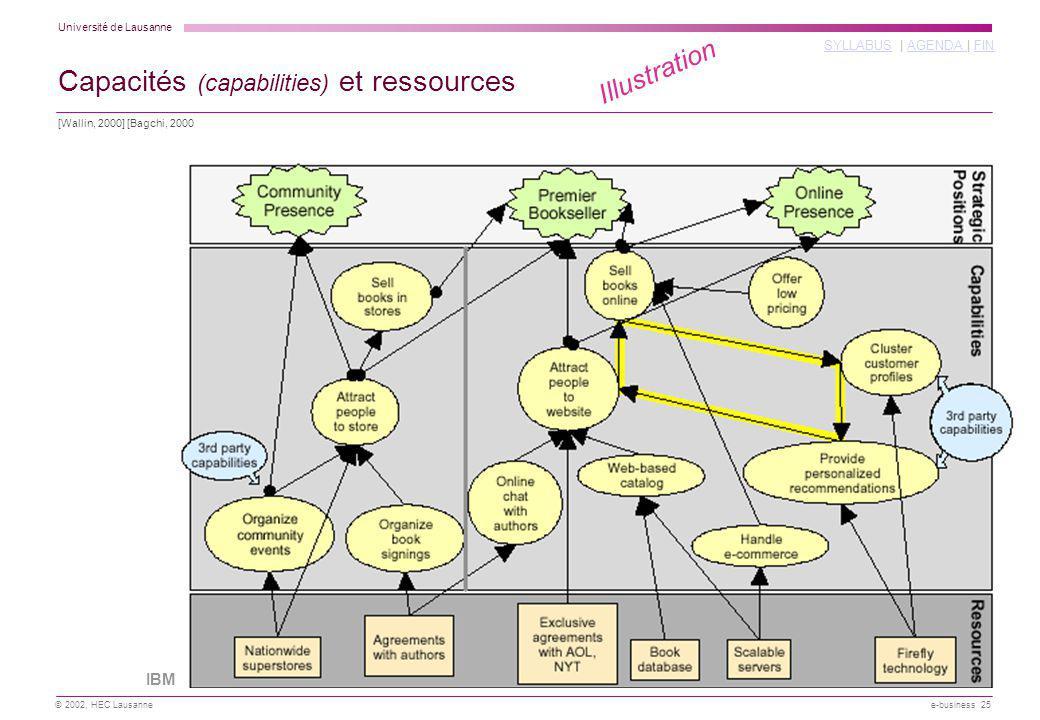 Capacités (capabilities) et ressources
