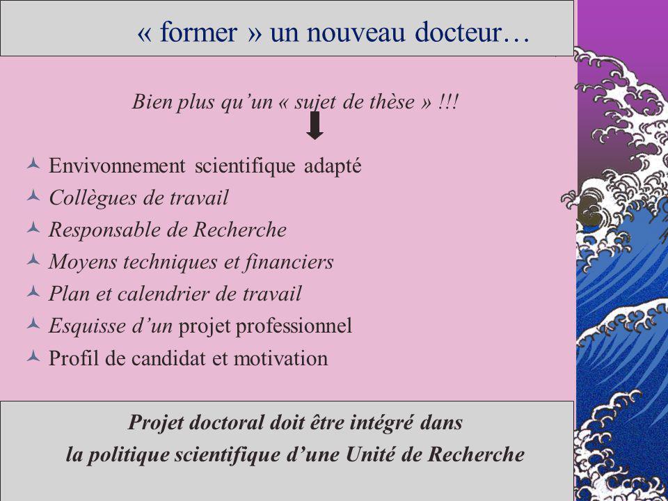 « former » un nouveau docteur…