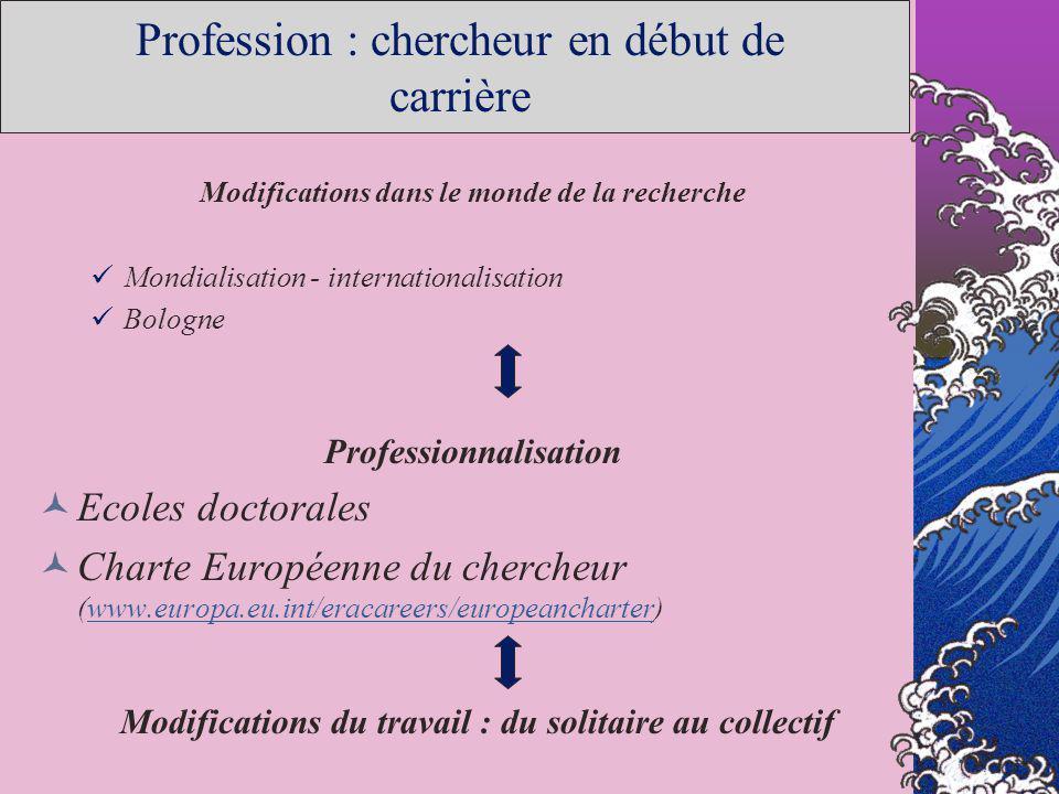 Profession : chercheur en début de carrière
