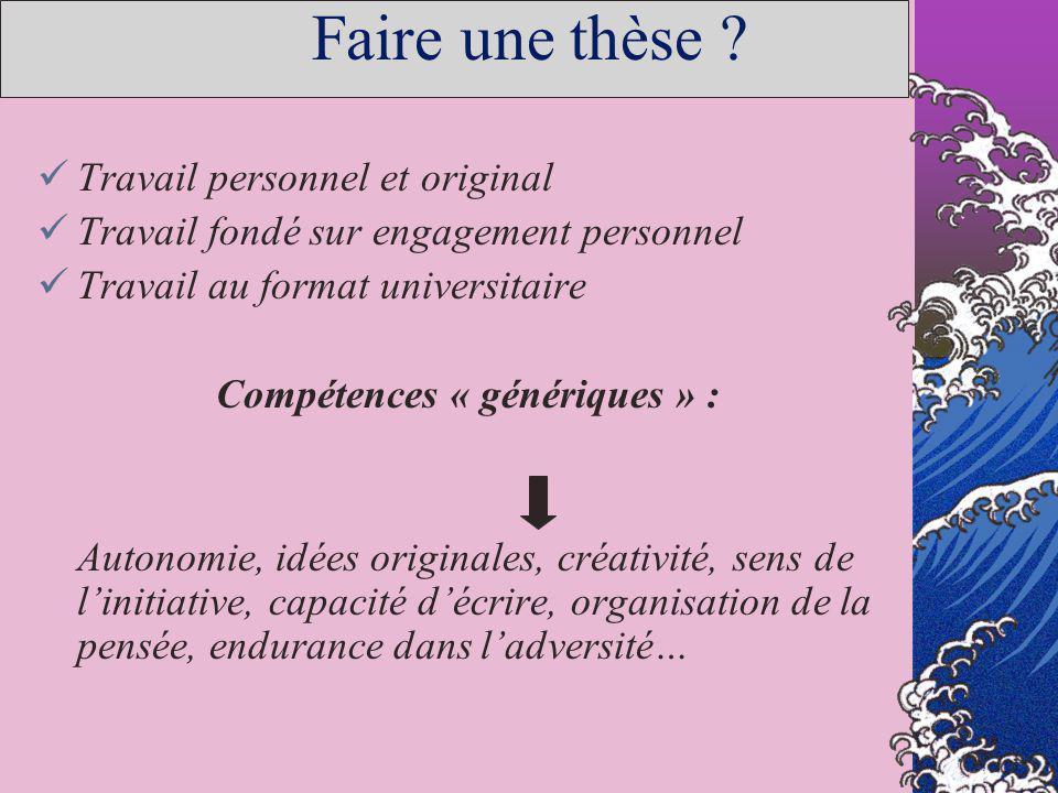 Compétences « génériques » :