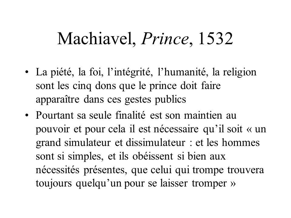 Machiavel, Prince, 1532