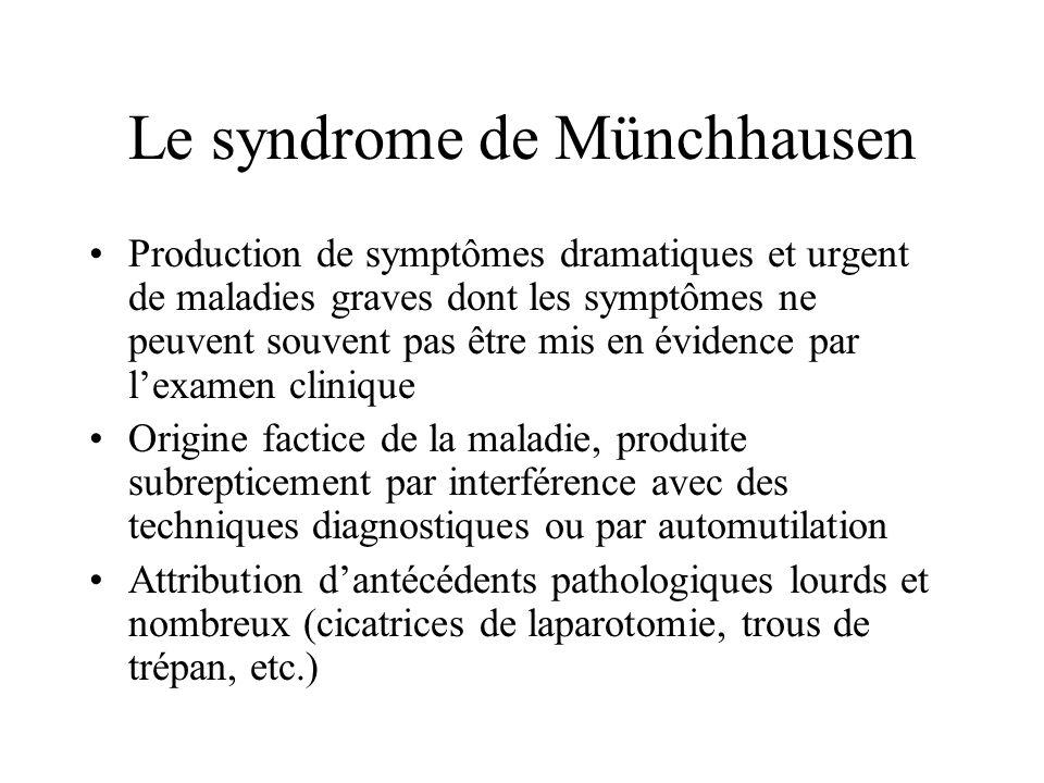 Le syndrome de Münchhausen