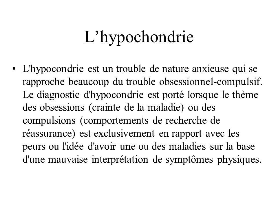 L'hypochondrie