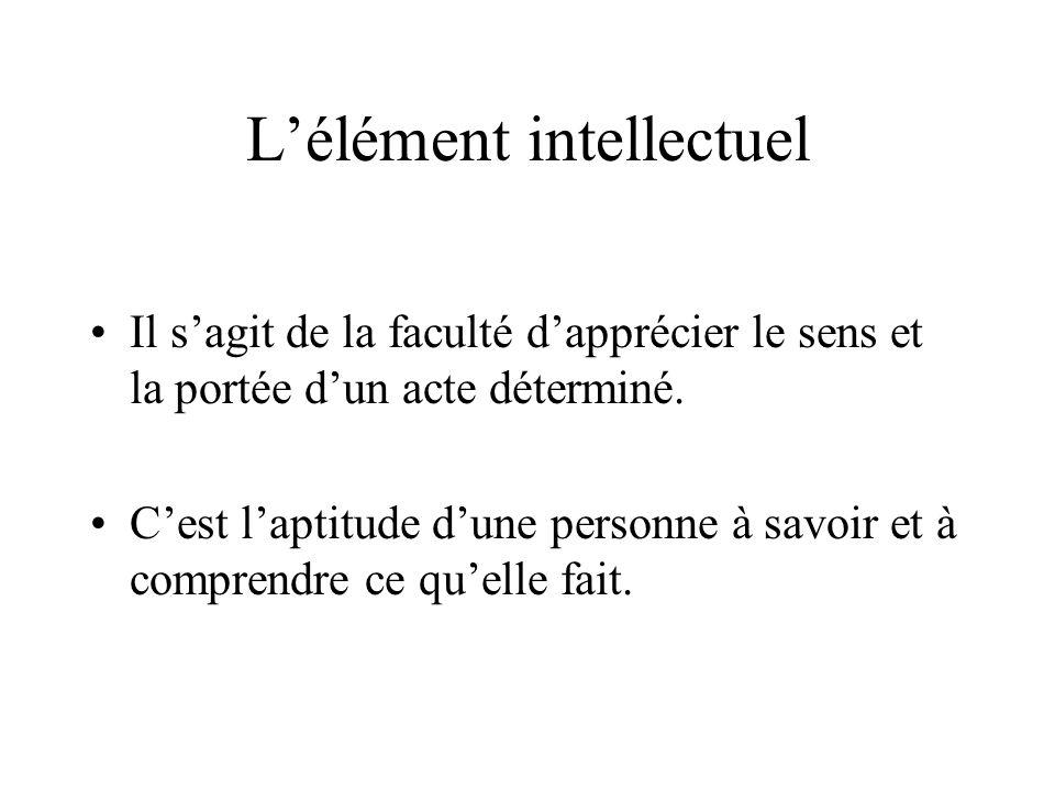 L'élément intellectuel