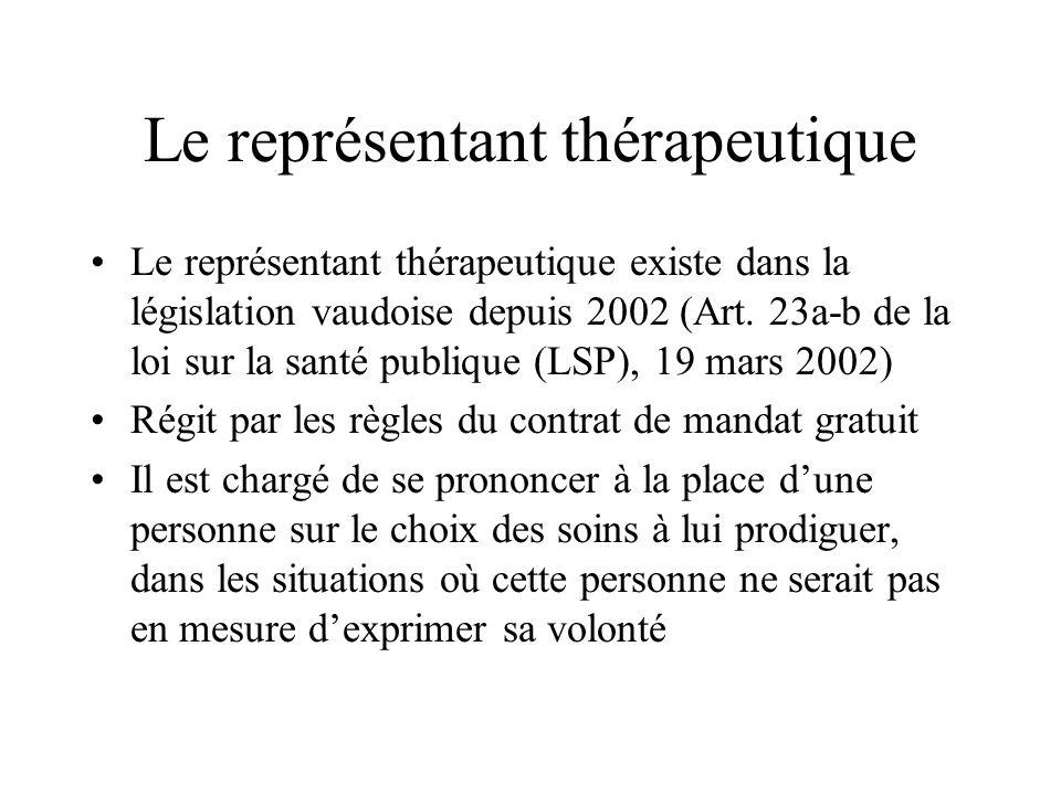 Le représentant thérapeutique