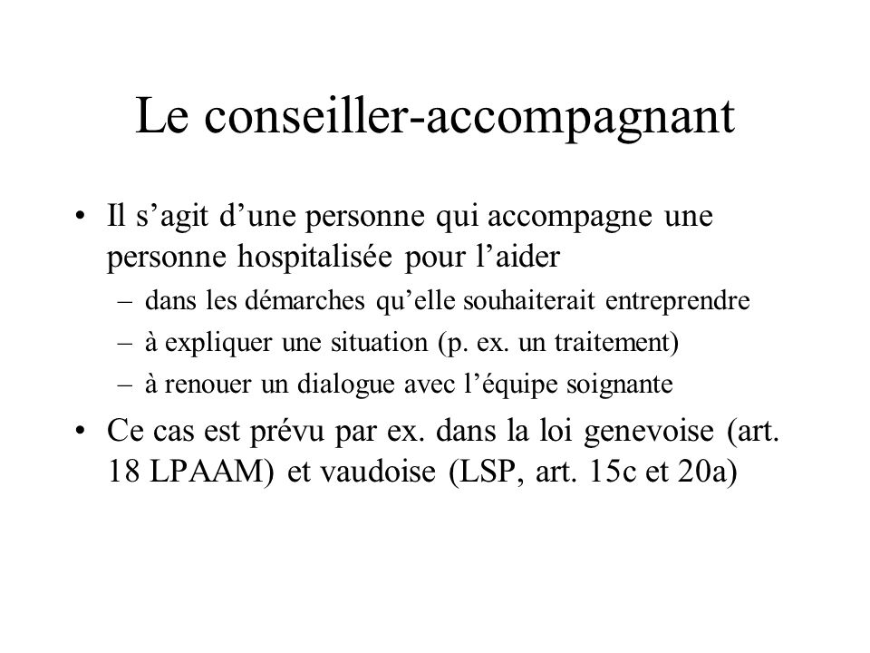 Le conseiller-accompagnant