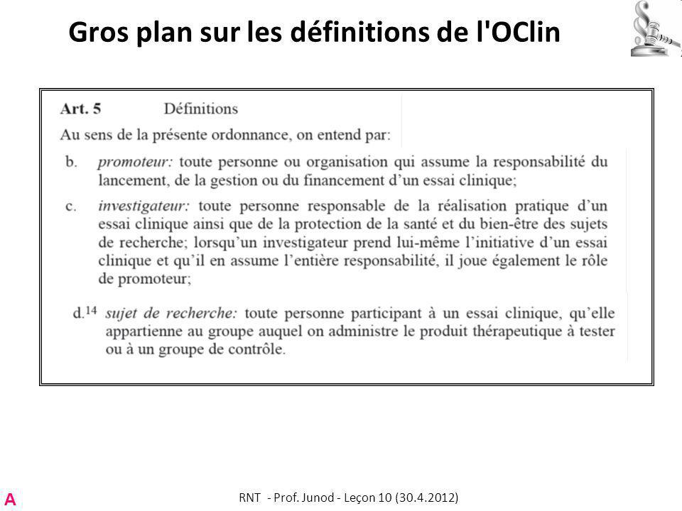Gros plan sur les définitions de l OClin