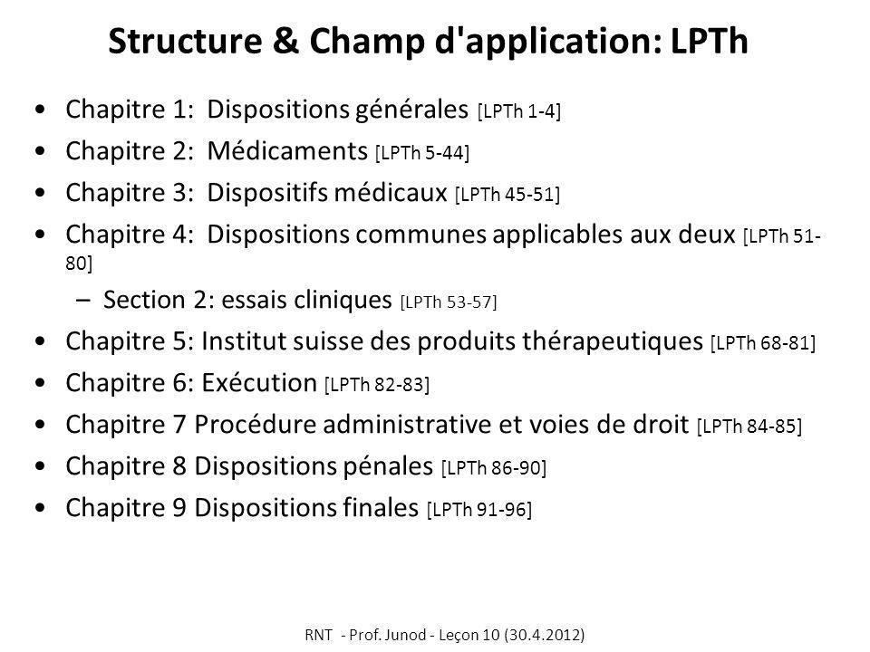 Structure & Champ d application: LPTh