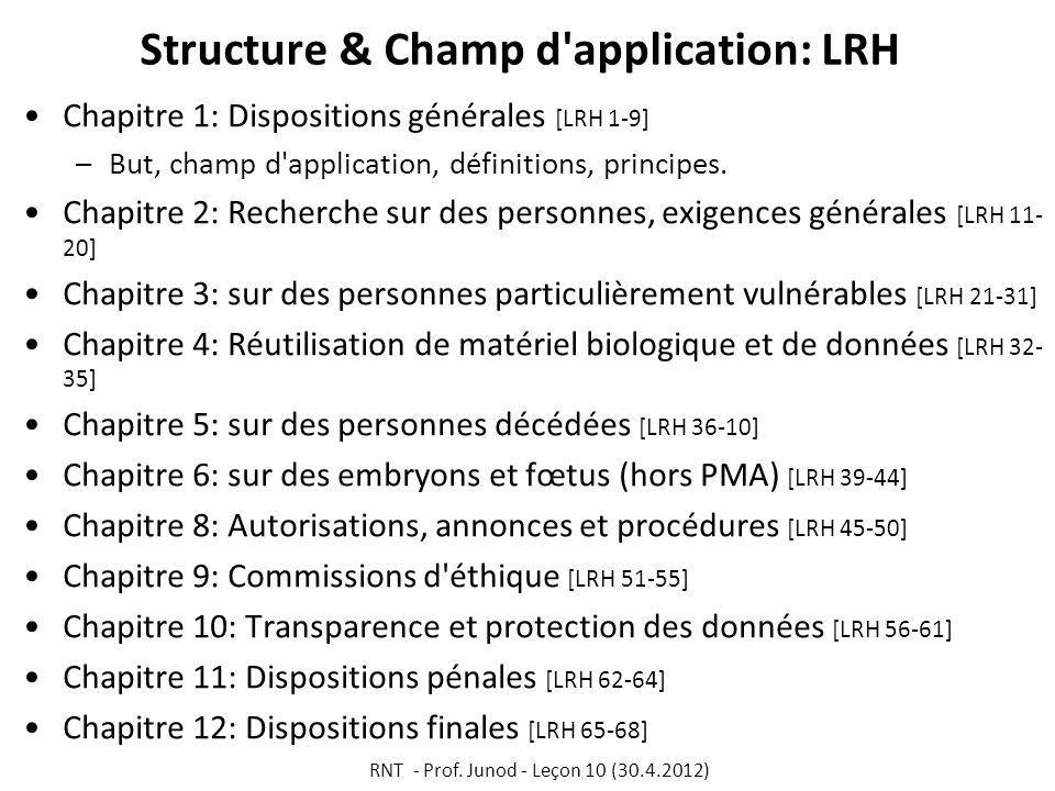 Structure & Champ d application: LRH