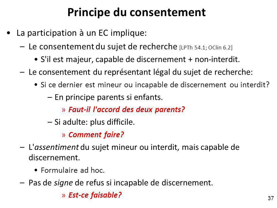 Principe du consentement
