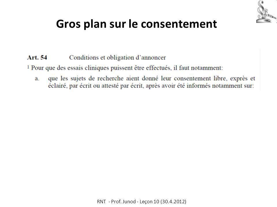 Gros plan sur le consentement