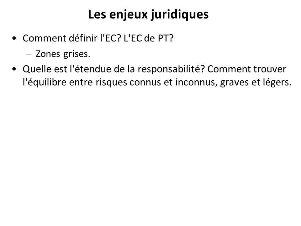 Les enjeux juridiques Comment définir l EC L EC de PT