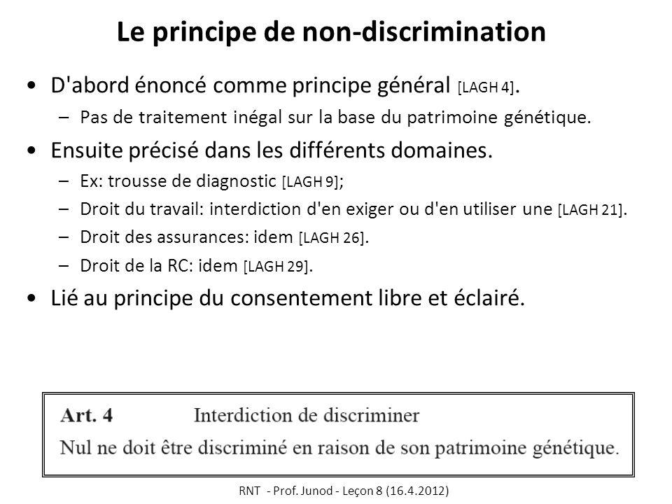 Le principe de non-discrimination