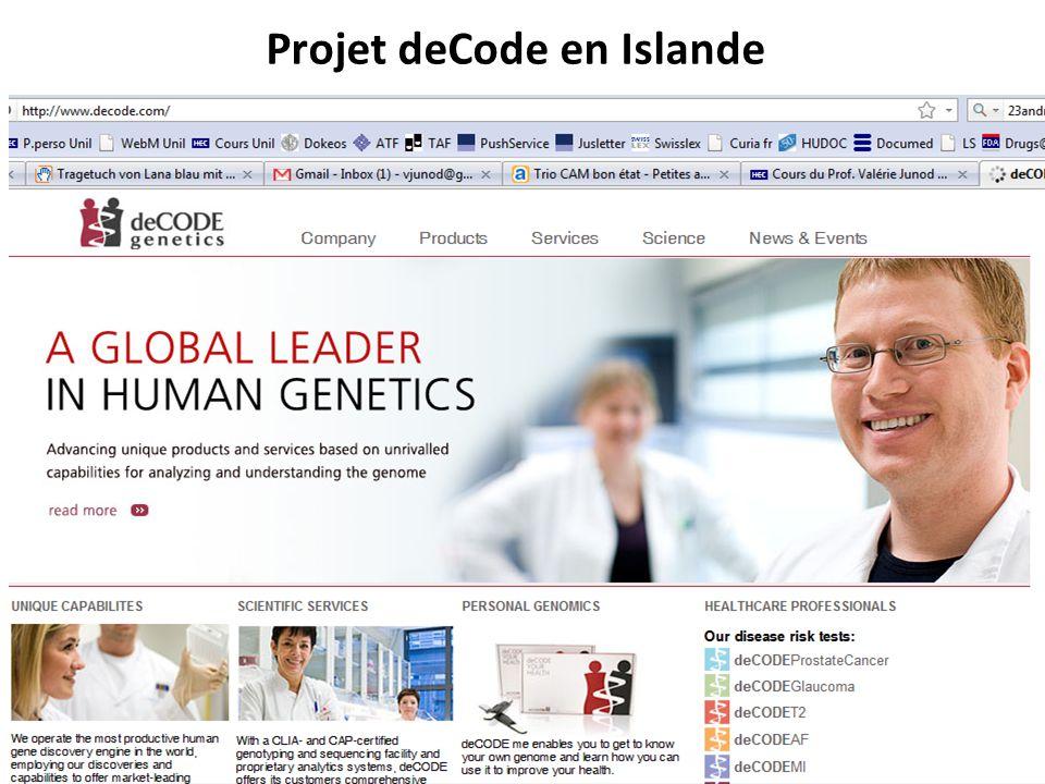 Projet deCode en Islande