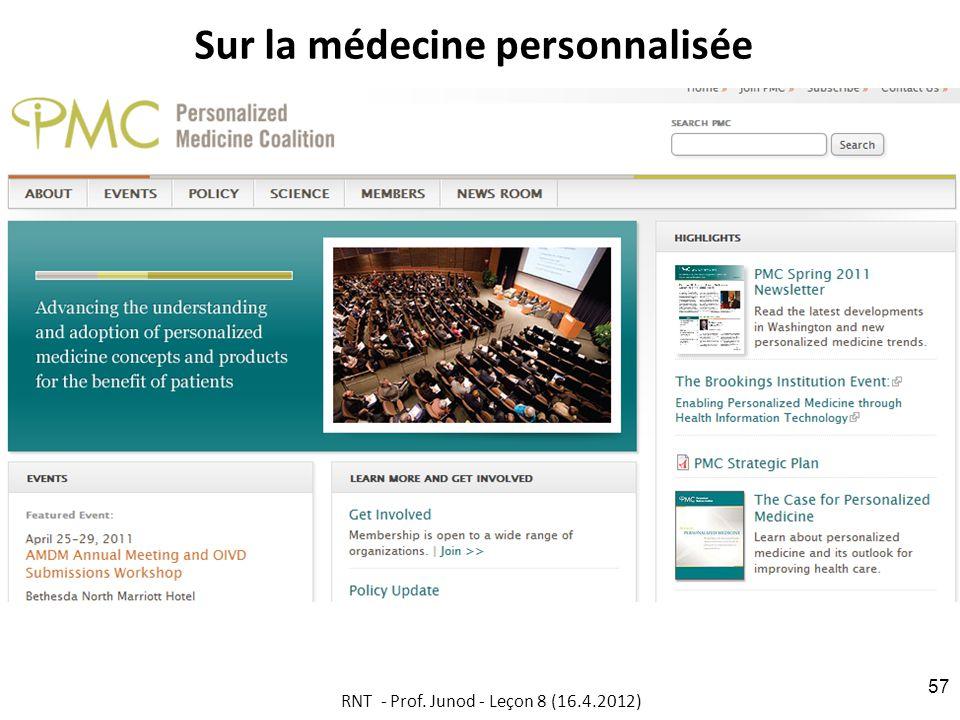 Sur la médecine personnalisée