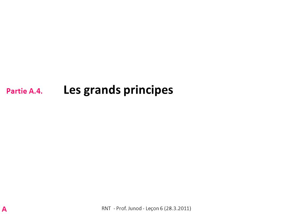 Partie A.4. Les grands principes