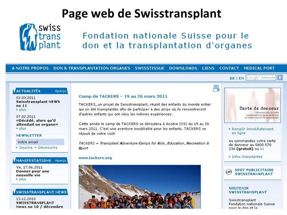 Page web de Swisstransplant