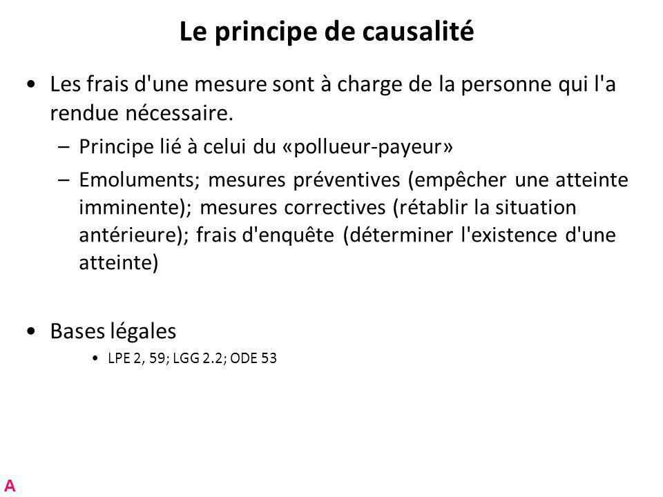 Le principe de causalité