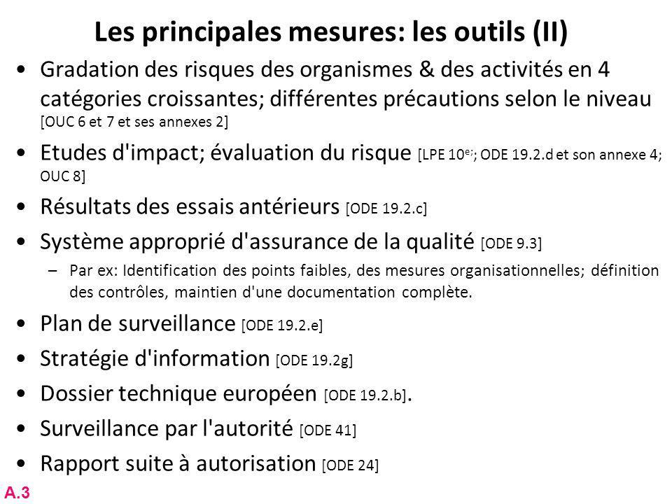 Les principales mesures: les outils (II)