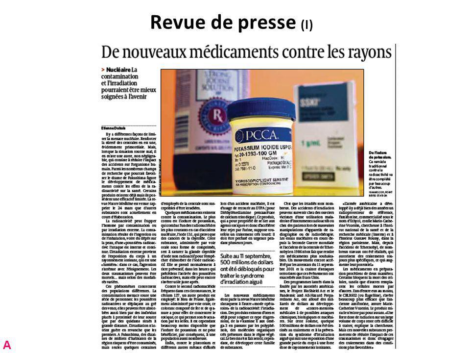Revue de presse (I) A