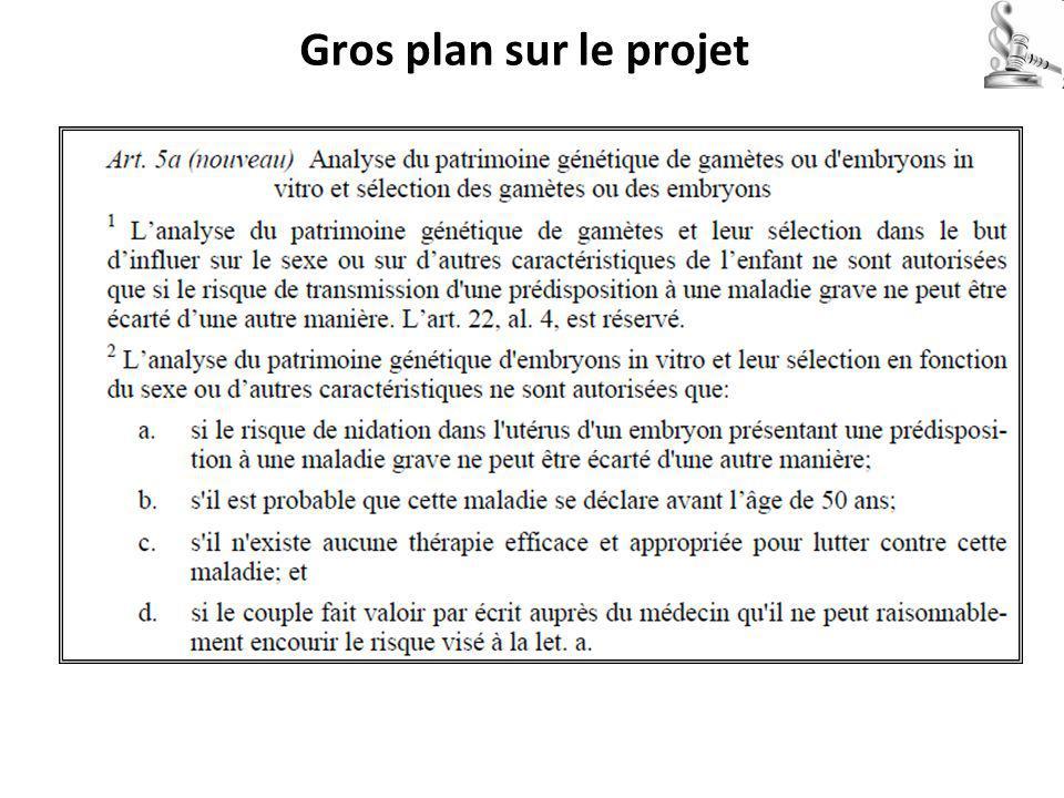 Gros plan sur le projet