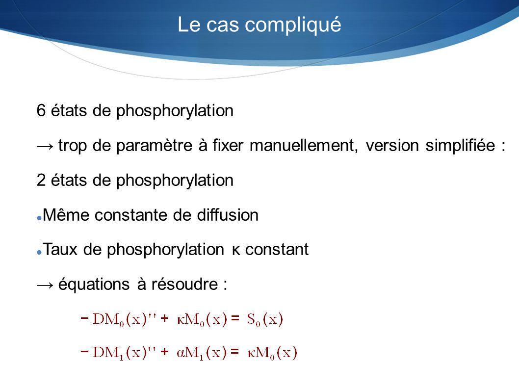Le cas compliqué 6 états de phosphorylation