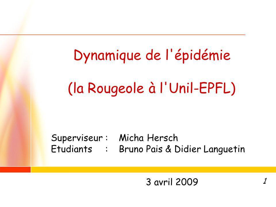 Dynamique de l épidémie (la Rougeole à l Unil-EPFL)
