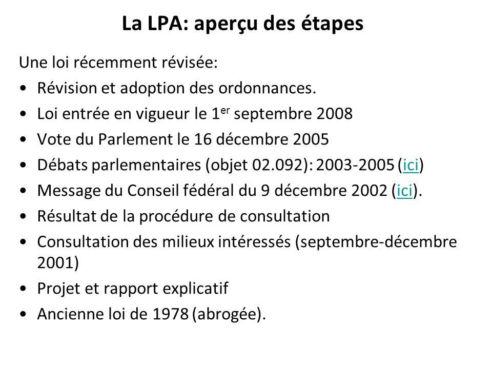 La LPA: aperçu des étapes