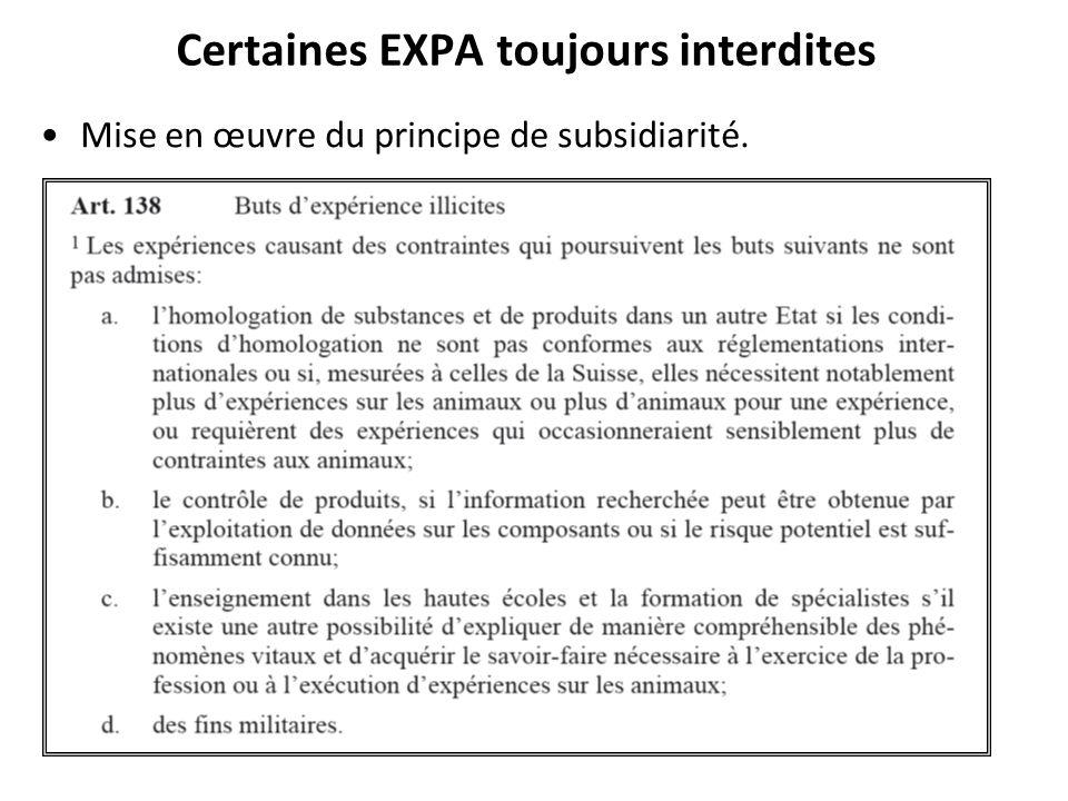 Certaines EXPA toujours interdites