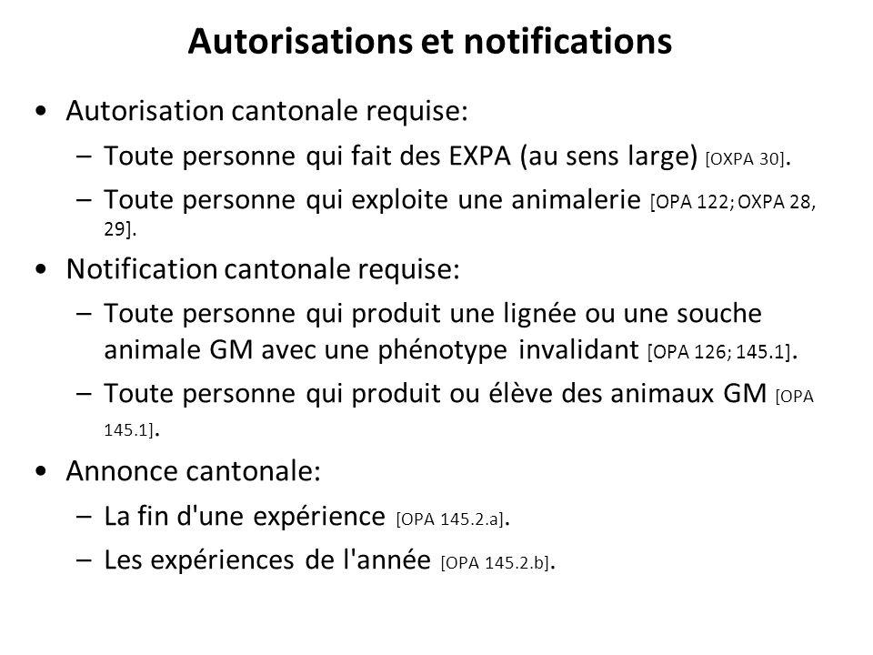 Autorisations et notifications
