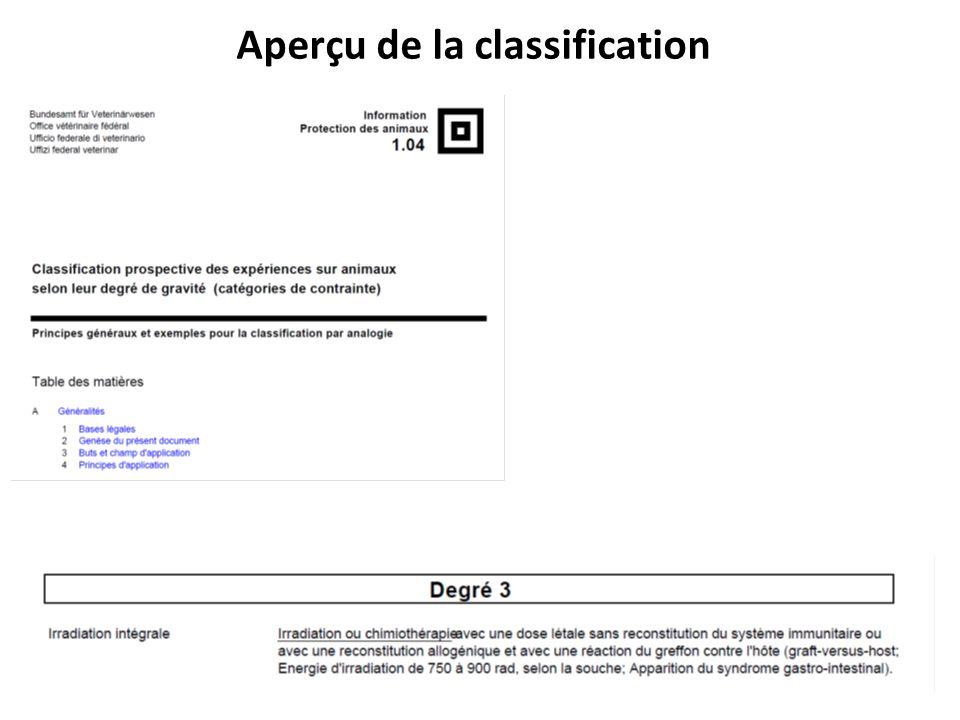 Aperçu de la classification