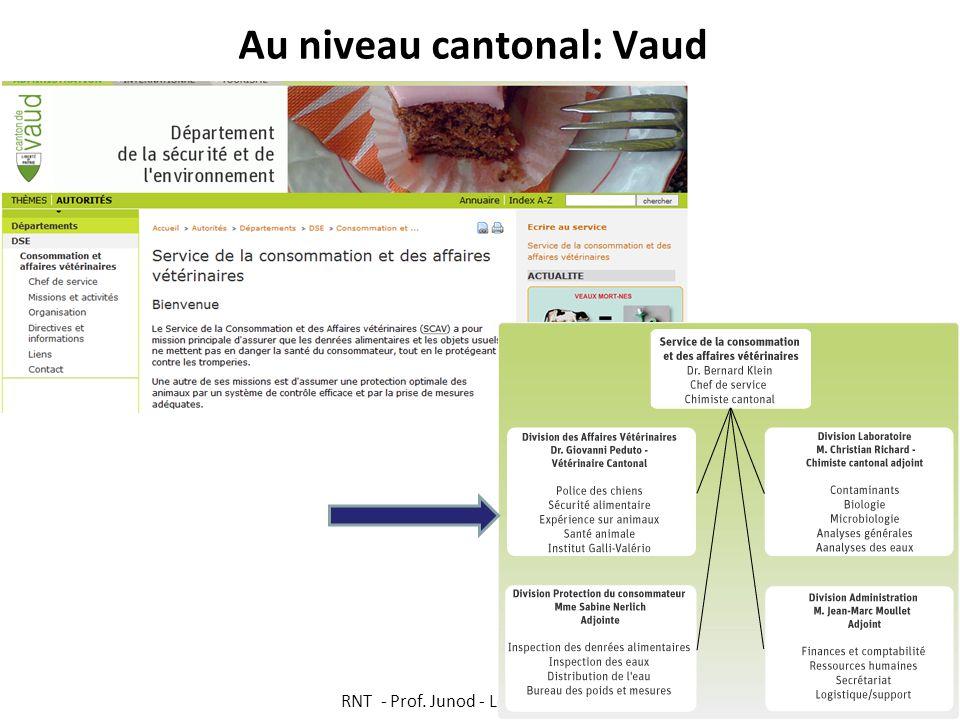 Au niveau cantonal: Vaud