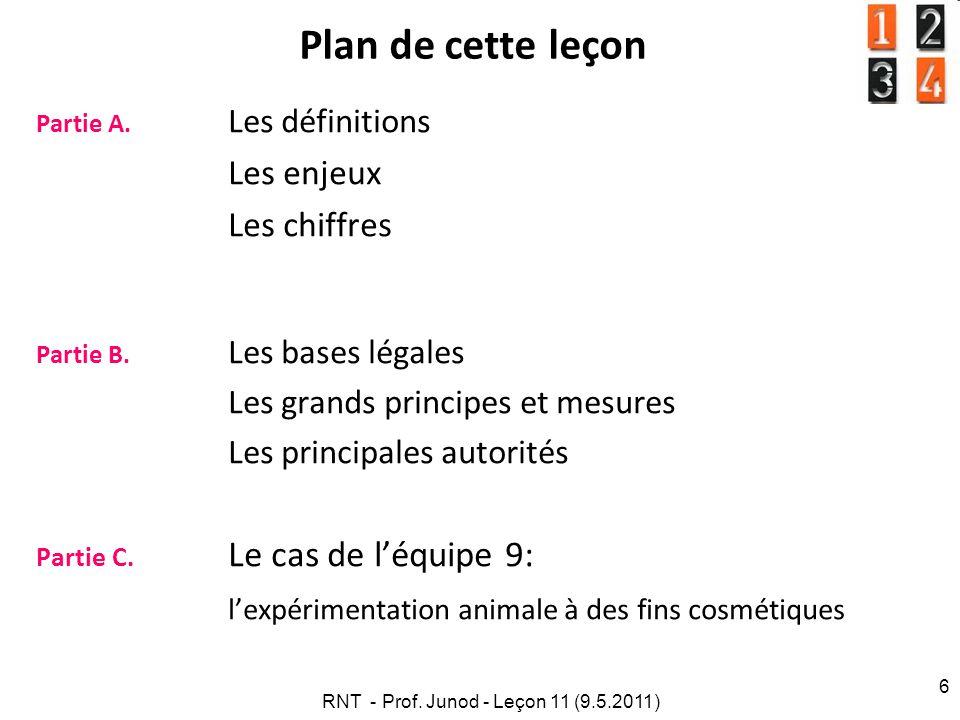 RNT - Prof. Junod - Leçon 11 (9.5.2011)