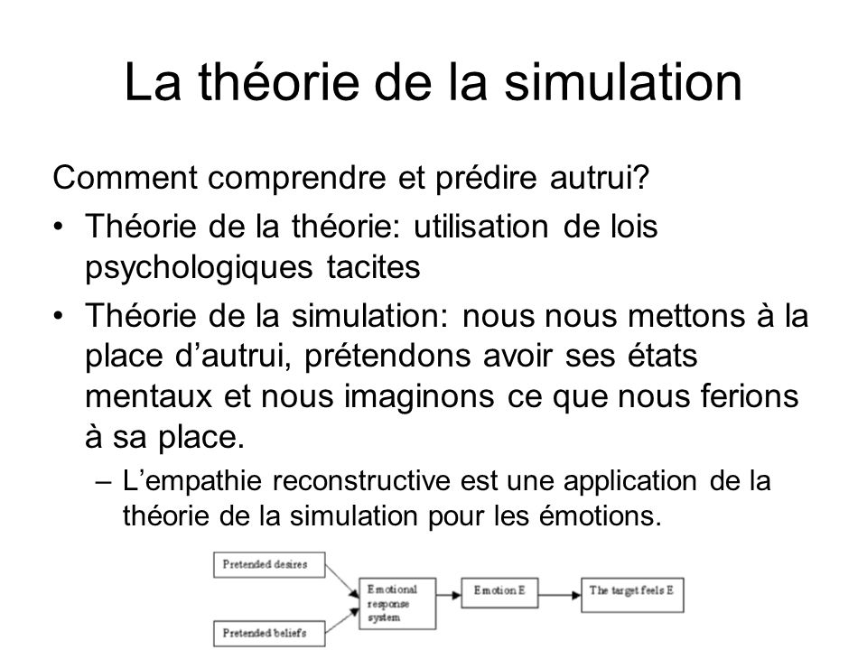 La théorie de la simulation
