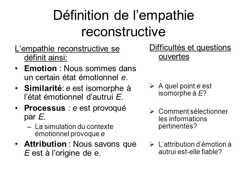 Définition de l'empathie reconstructive