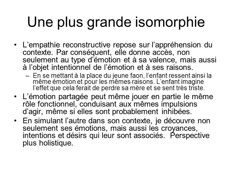 Une plus grande isomorphie
