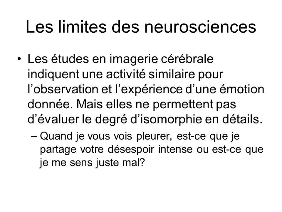 Les limites des neurosciences