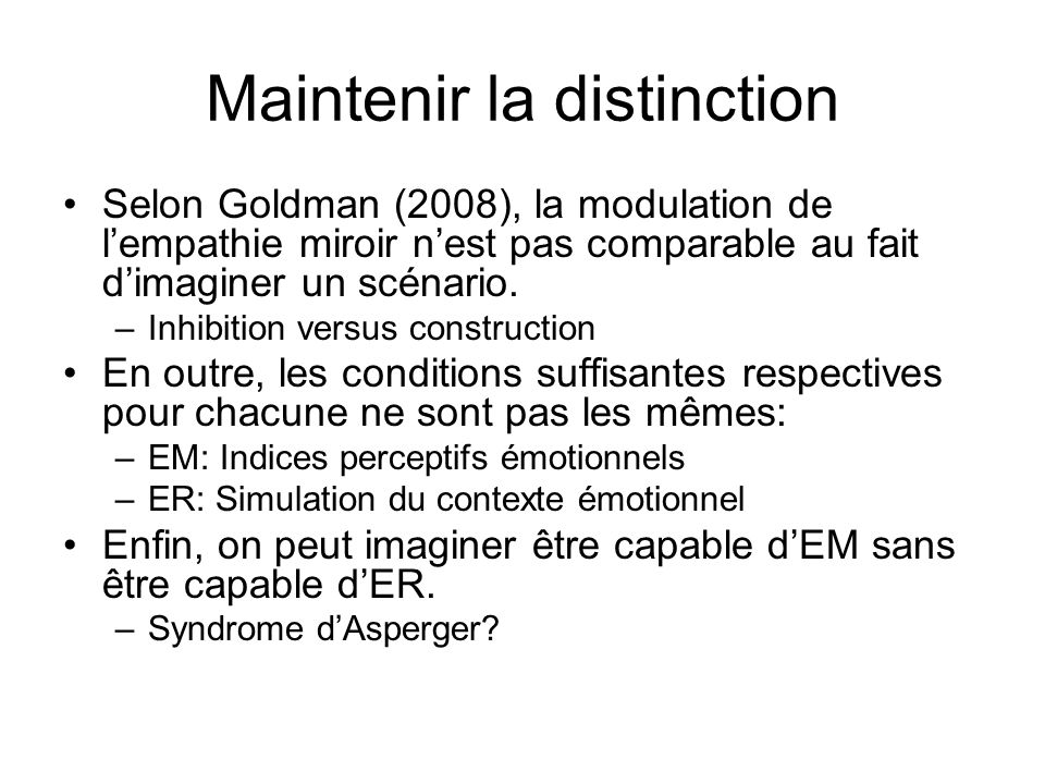 Empathie miroir et empathie reconstructive ppt t l charger for Syndrome miroir