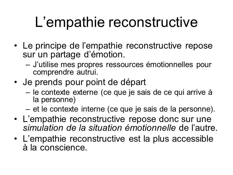 L'empathie reconstructive