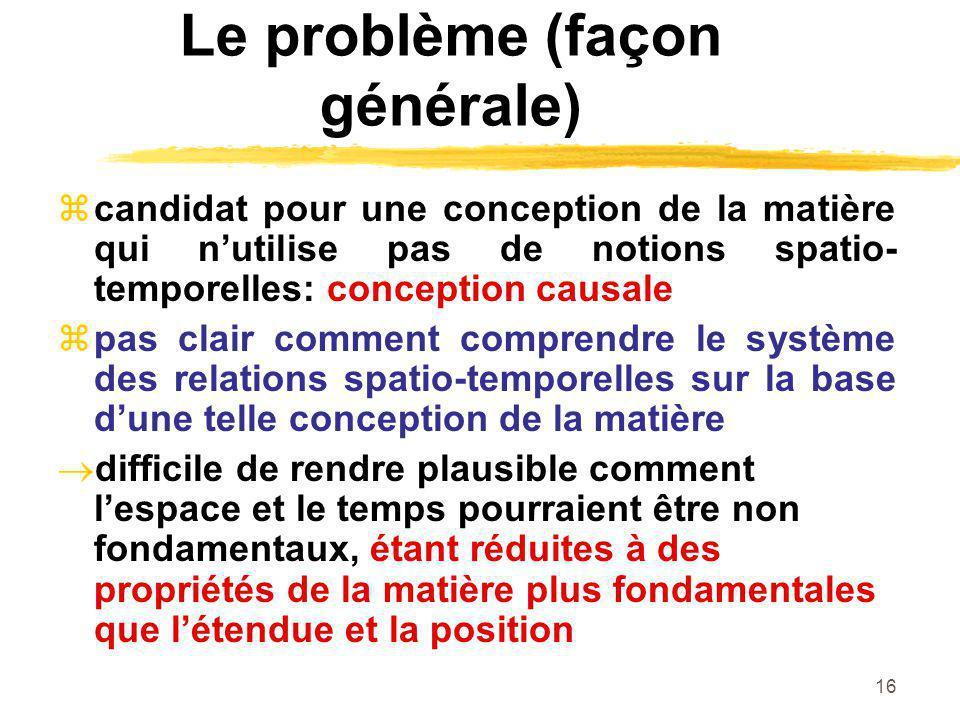 Le problème (façon générale)