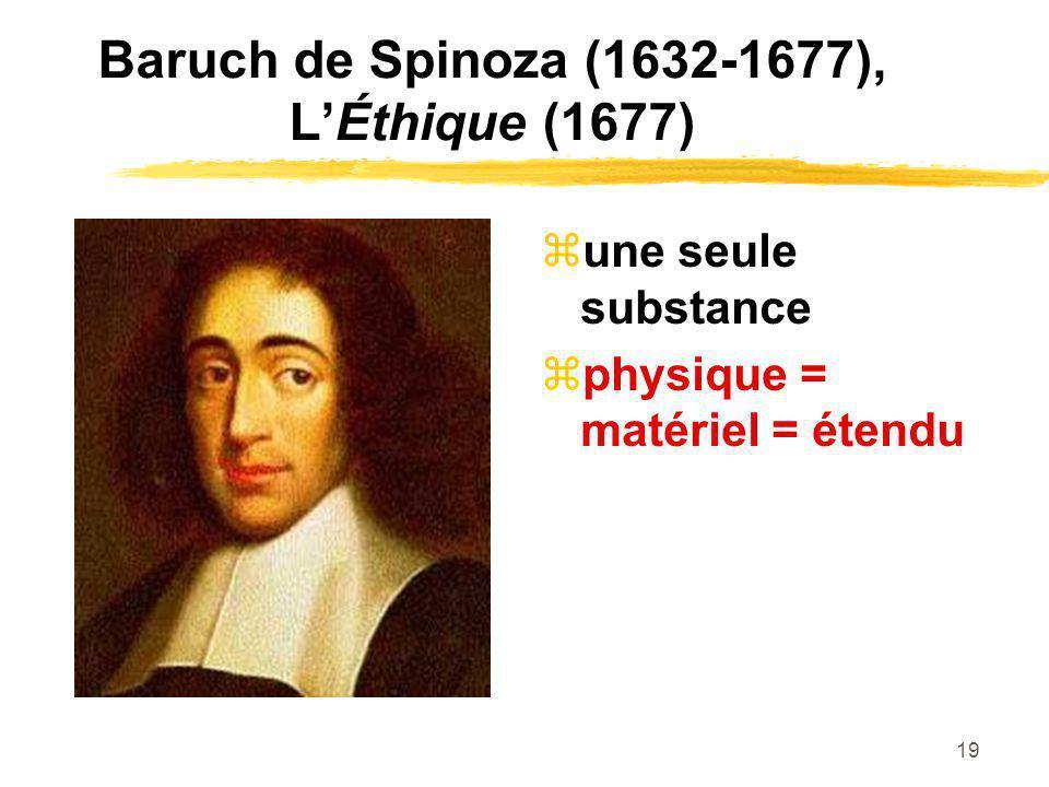 Baruch de Spinoza (1632-1677), L'Éthique (1677)