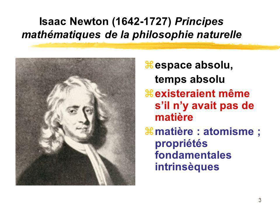 Isaac Newton (1642-1727) Principes mathématiques de la philosophie naturelle