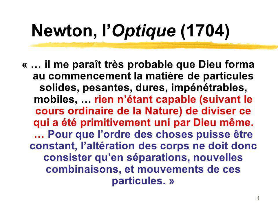 Newton, l'Optique (1704)