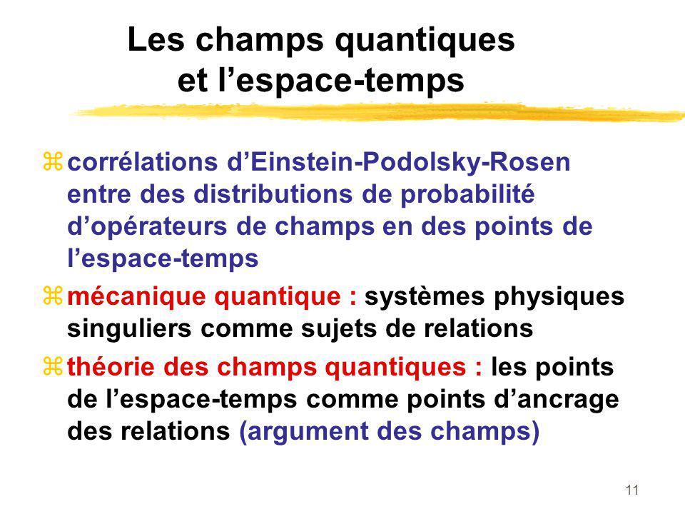 Les champs quantiques et l'espace-temps