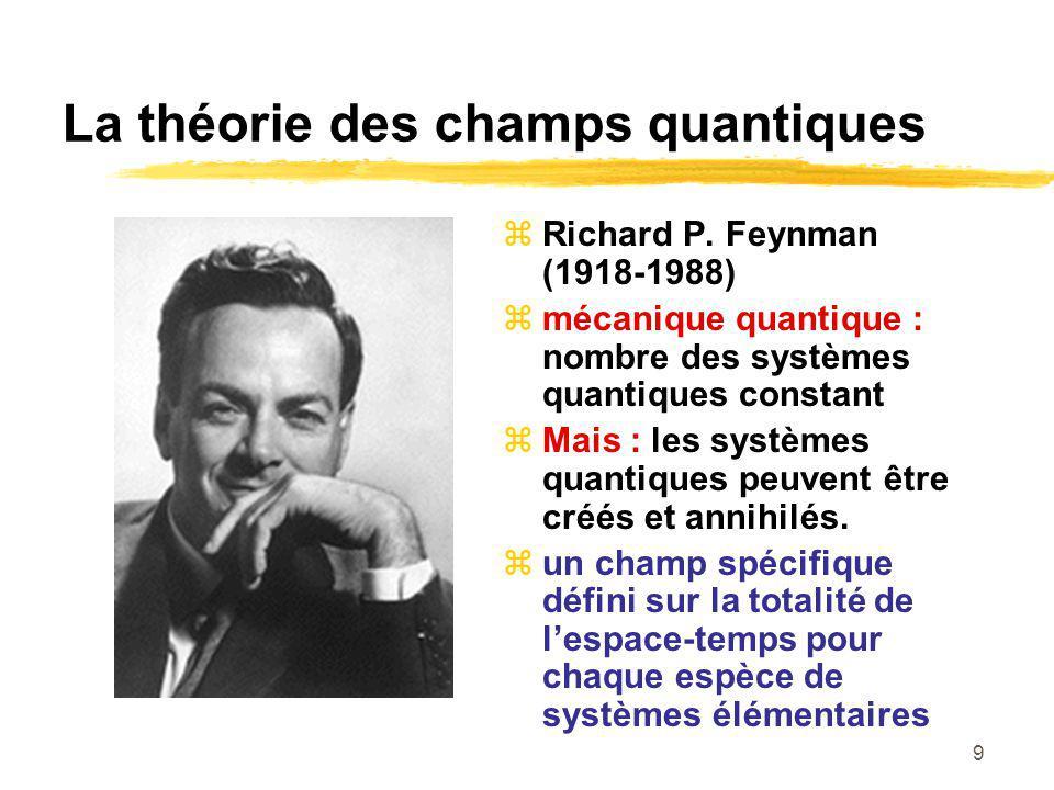 La théorie des champs quantiques